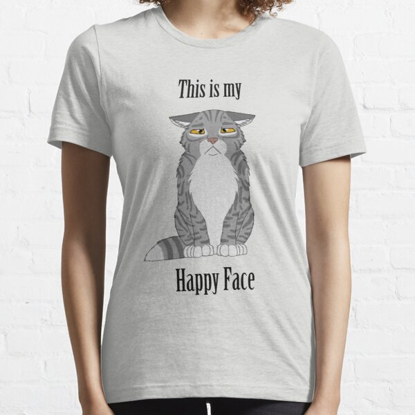 Happy Face - Grey Tabby Cat Essential T-Shirt