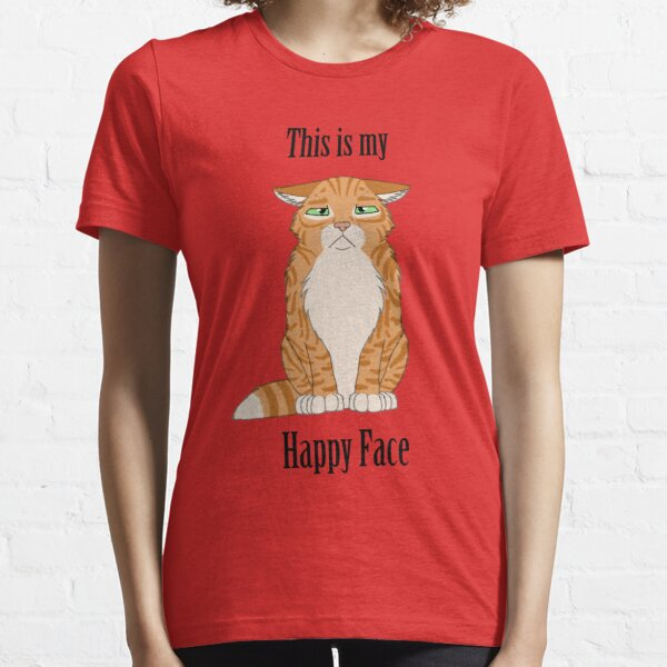 Happy Face - Golden Tabby Cat Essential T-Shirt
