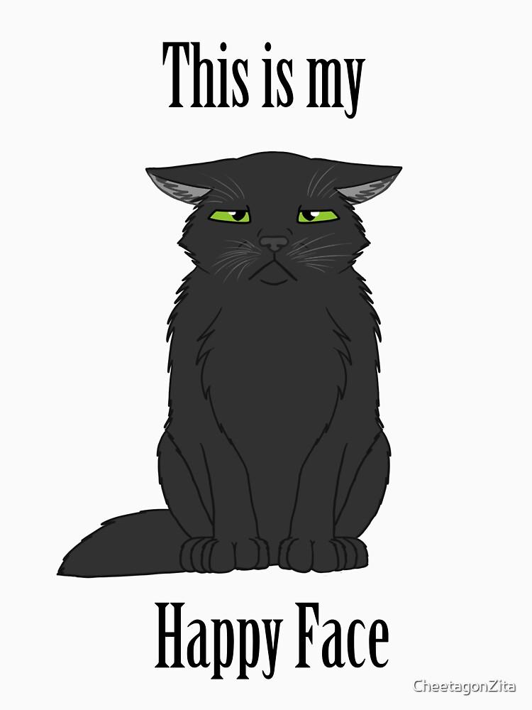 Happy Face - Black Cat by CheetagonZita