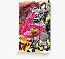 Tango Argentino. Drawing Andrzej Goszcz And Adela. Greeting Card