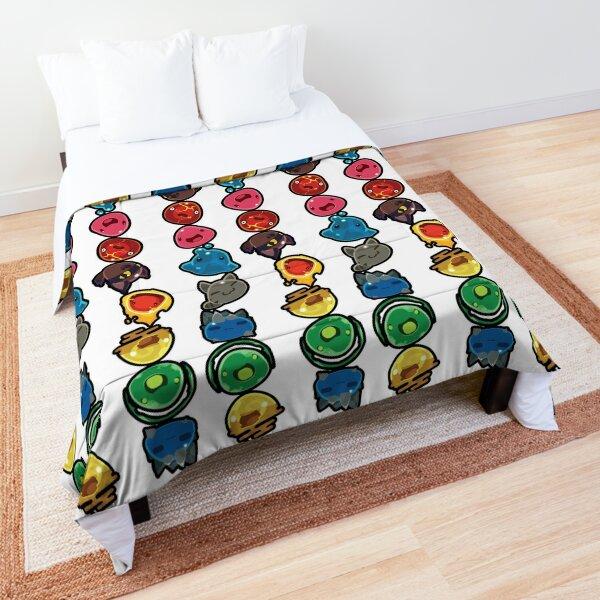 A Rainbow of Slimes Comforter