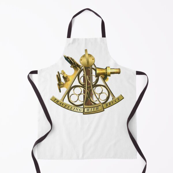 Travelling With Bruce Sextant logo Apron