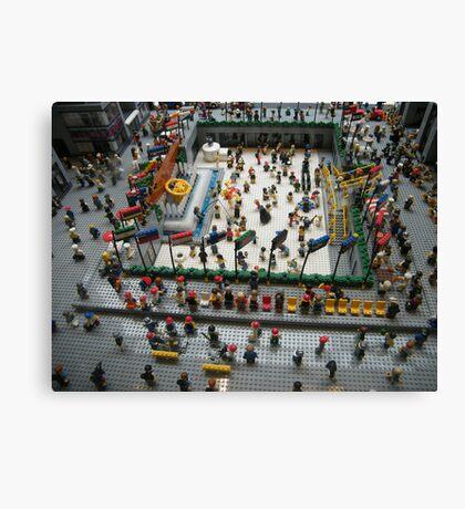 Lego Rockefeller Center Skating Rink,  Rockefeller Center Lego Store, New York City Canvas Print