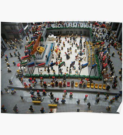 Lego Rockefeller Center Skating Rink,  Rockefeller Center Lego Store, New York City Poster