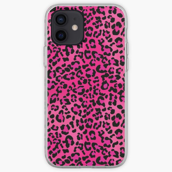 Hot Pink Leopard Animal Print iPhone Soft Case