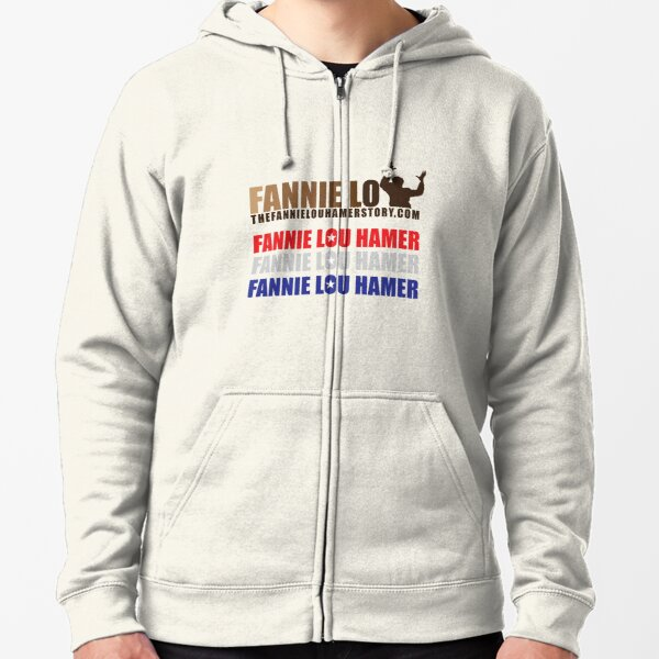 The Fannie Lou Hamer Story, Red, White & Blue Zipped Hoodie
