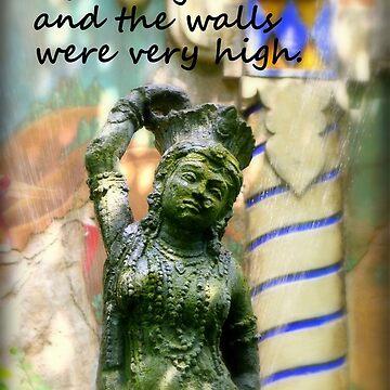 Secret Garden Hindu Goddess Statue by anitahiltz