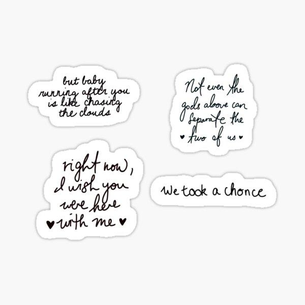 One direction lyrics sticker pack Sticker
