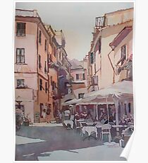 Monterosso Cafe Poster