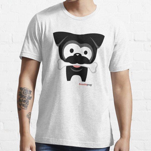 Black Pug Bone! White Tees and Stickers Essential T-Shirt