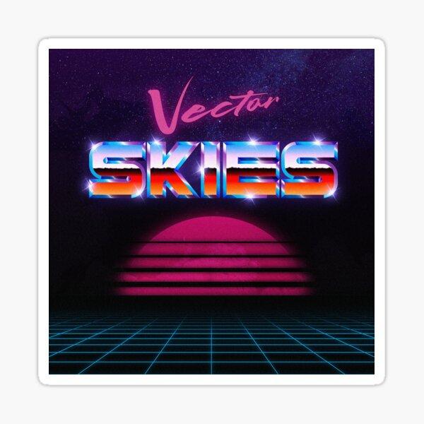 Vector Skies Sun Logo Sticker