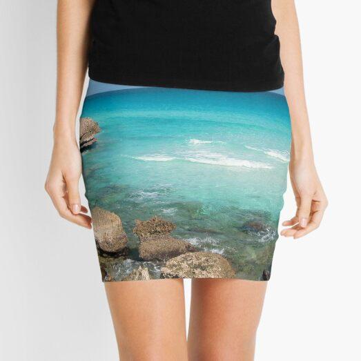 Rocky Seashore Seascape, Socotra Island Mini Skirt
