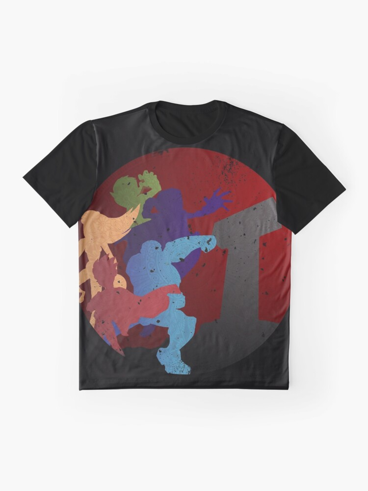 Alternative Ansicht von Titanen Grafik T-Shirt