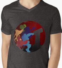 Titanen T-Shirt mit V-Ausschnitt
