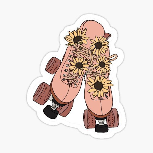sunflower rollerskates  Sticker