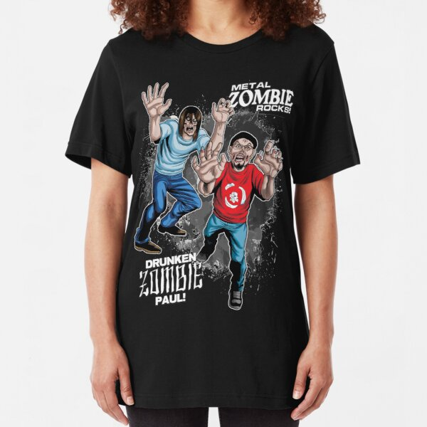 Metal ZOMBIE Jesus Slim Fit T-Shirt