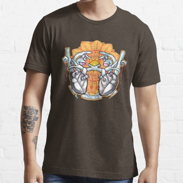 two hearts connection, psychedelic sci-fi Essential T-Shirt