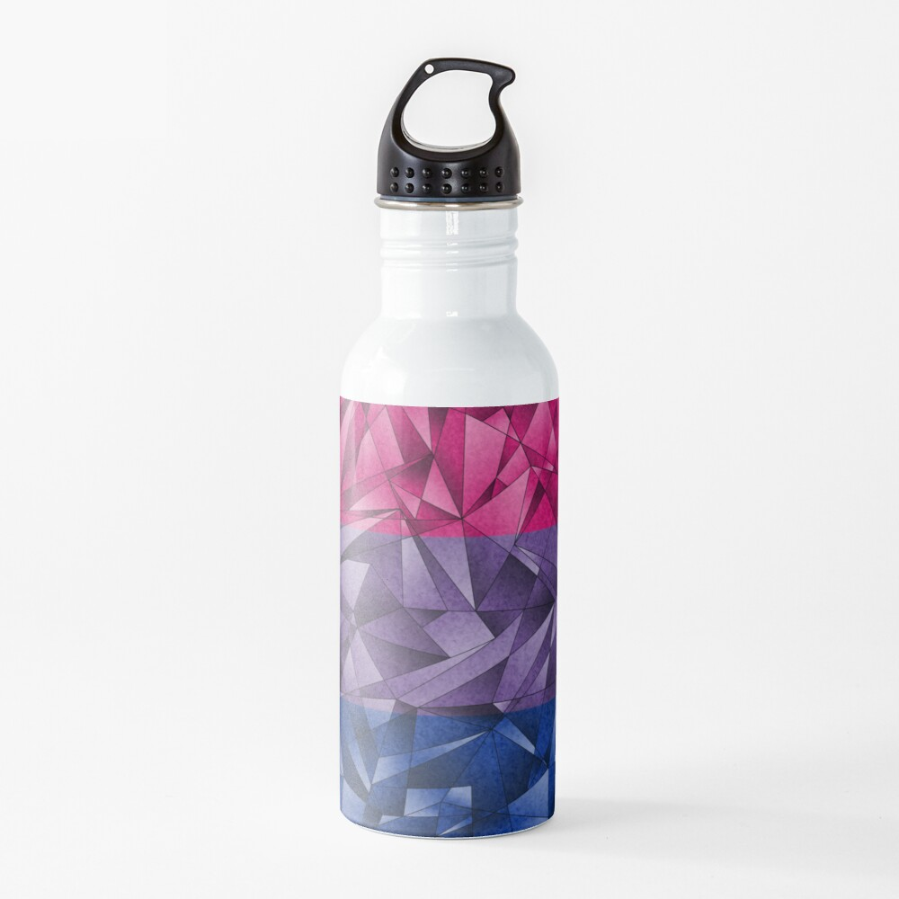 Abstract Bisexual Flag Water Bottle