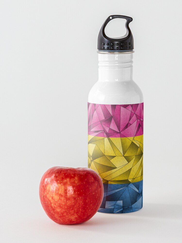 Alternate view of Abstract Pansexual Flag Water Bottle