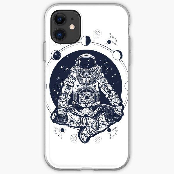 Astronaut meditation iPhone Soft Case