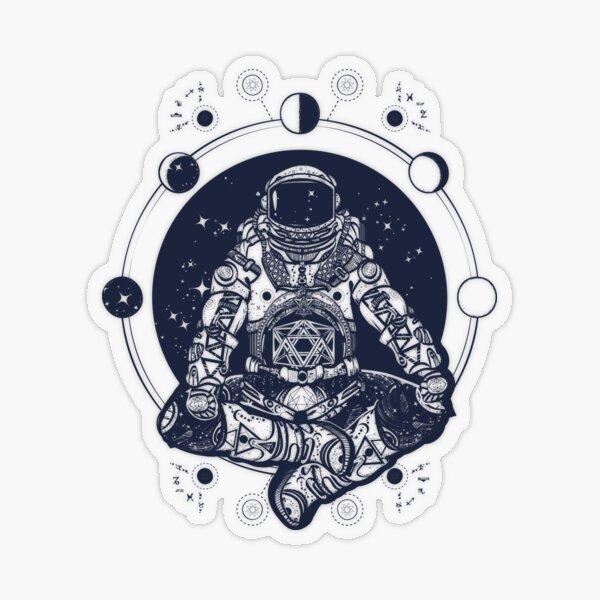 Astronaut meditation Transparent Sticker