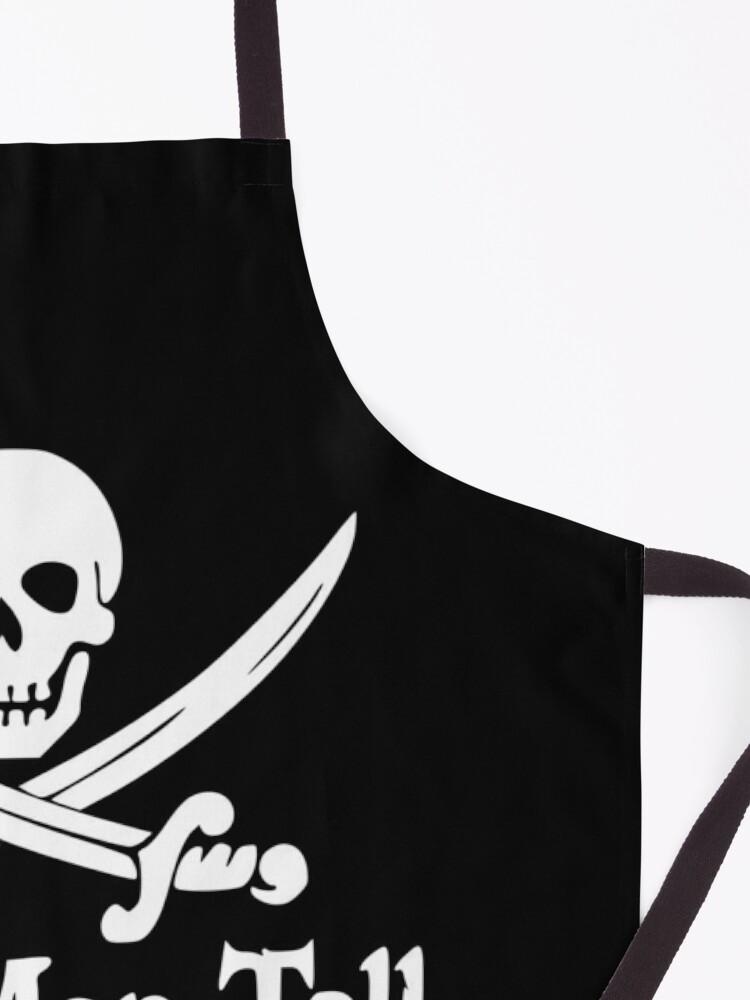 Alternate view of Pirates Skull Crossed Swords Dead Men Tell No Tales - White  Apron