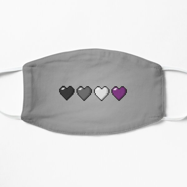 Asexual Pixel Hearts Mask
