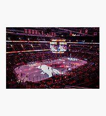 Capitals in Washington DC ice rink Photographic Print