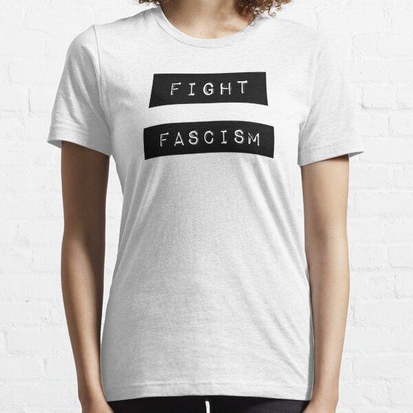 FIGHT FASCISM - Retro Label Maker Design Essential T-Shirt