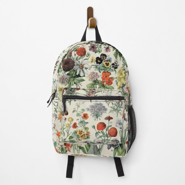 Adolphe Millot fleurs A Backpack