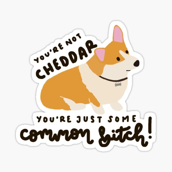 You're not Cheddar! Sticker