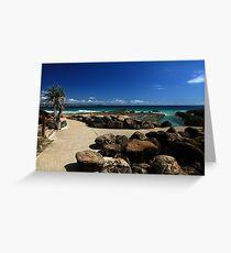 Snapper Rocks Gold Coast Greeting Card