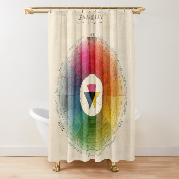 Vintage color wheel Design, color theory Shower Curtain