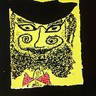 """Doctor Goldfish Krakauer. drawing by Andrzej Goszcz. Author:  Andrzej Goszcz , nickname """" Brown Sugar"""" . by © Andrzej Goszcz,M.D. Ph.D"""