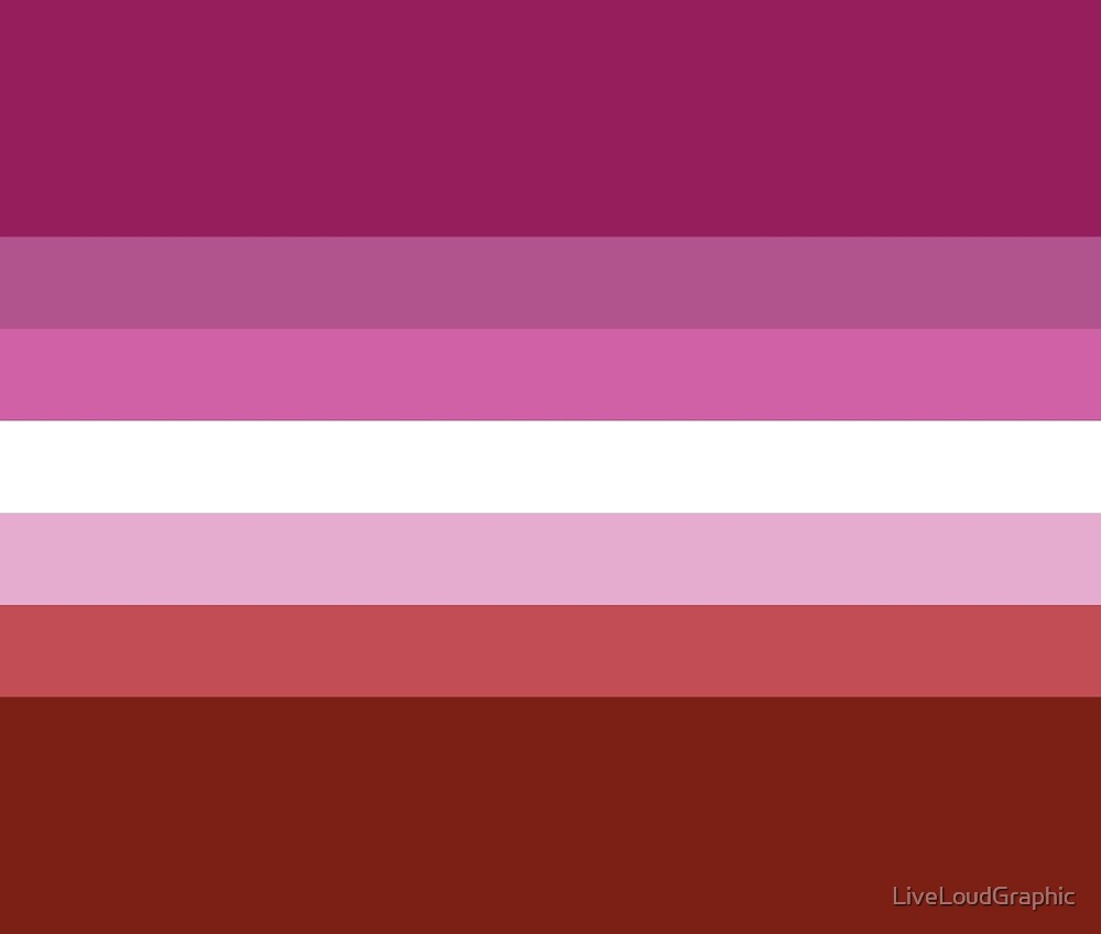 Solid Lipstick Lesbian Pride Flag by LiveLoudGraphic