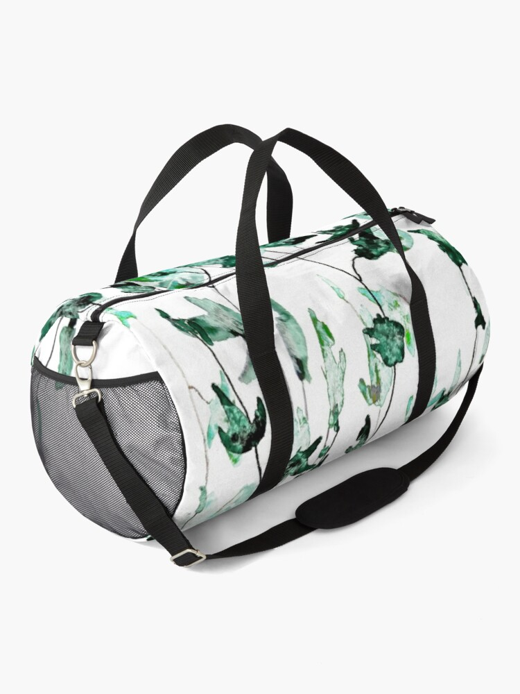 Alternate view of Ivy on the wall watercolor Duffle Bag