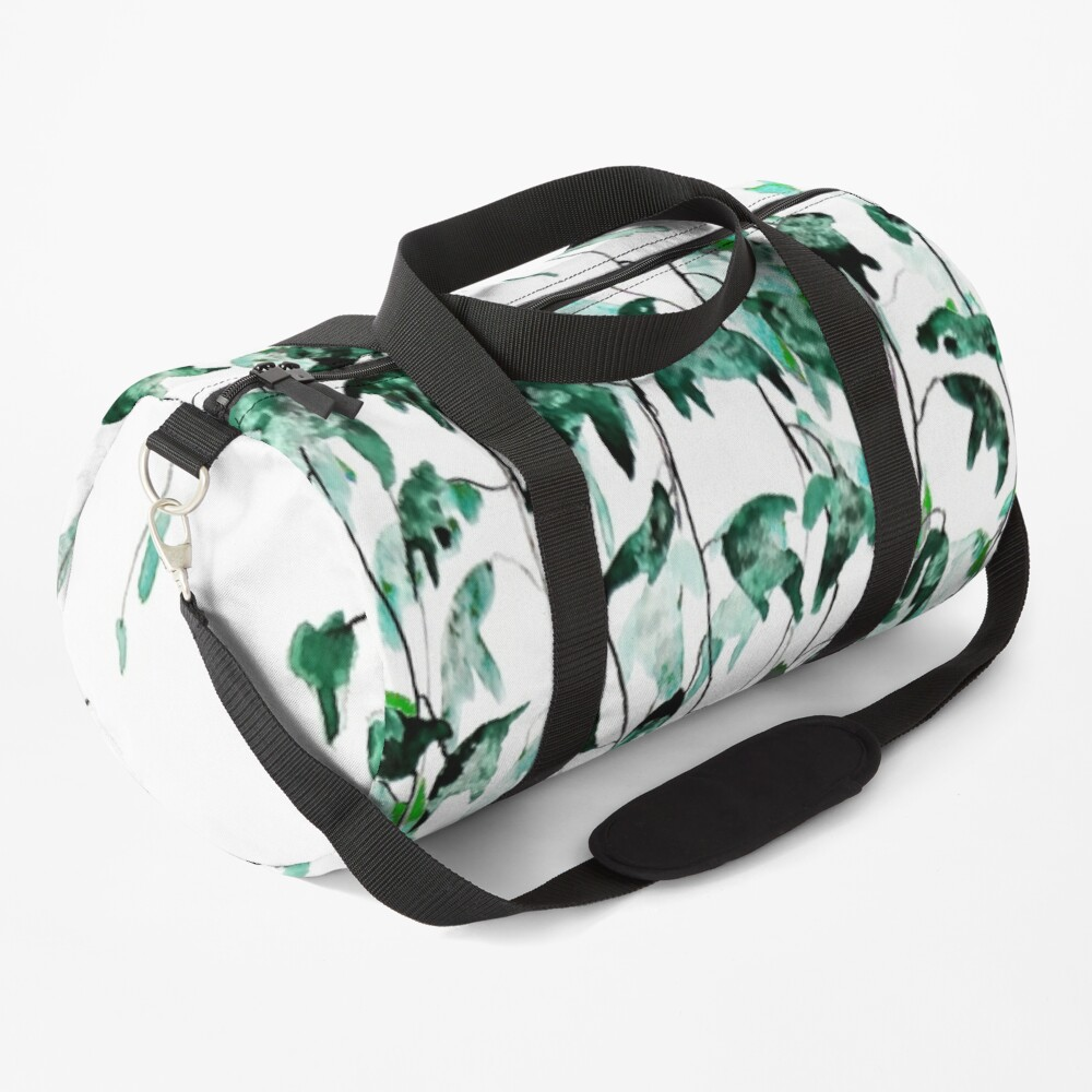 Ivy on the wall watercolor Duffle Bag