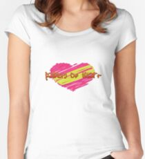 Paint Of Love Women's Fitted Scoop T-Shirt