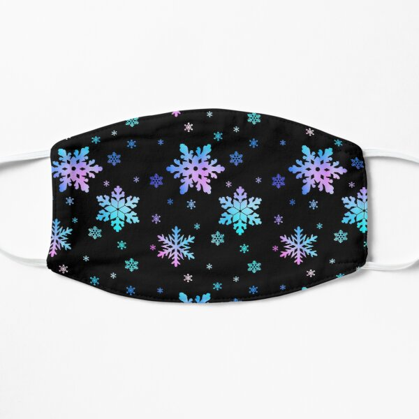 Neon Colorful Snowflakes Flat Mask