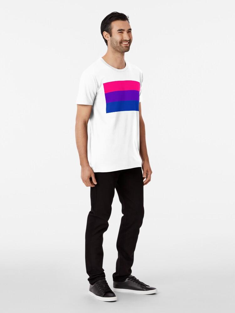 Alternate view of Solid Bisexual Pride Flag Premium T-Shirt