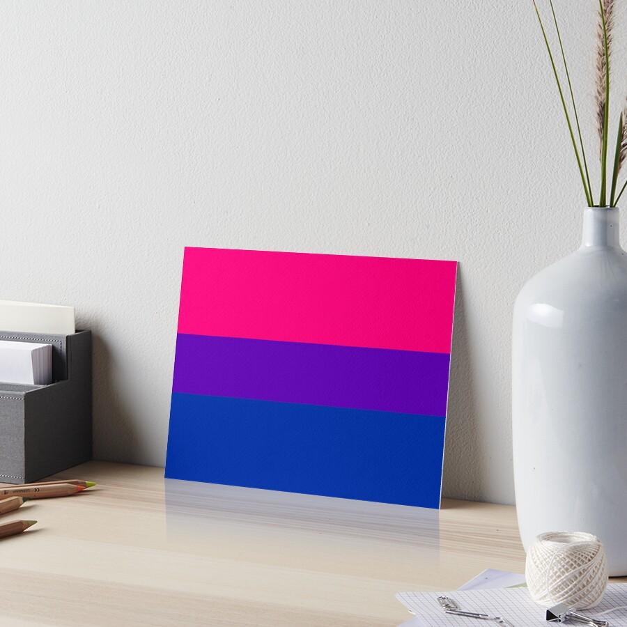 Solid Bisexual Pride Flag Art Board Print