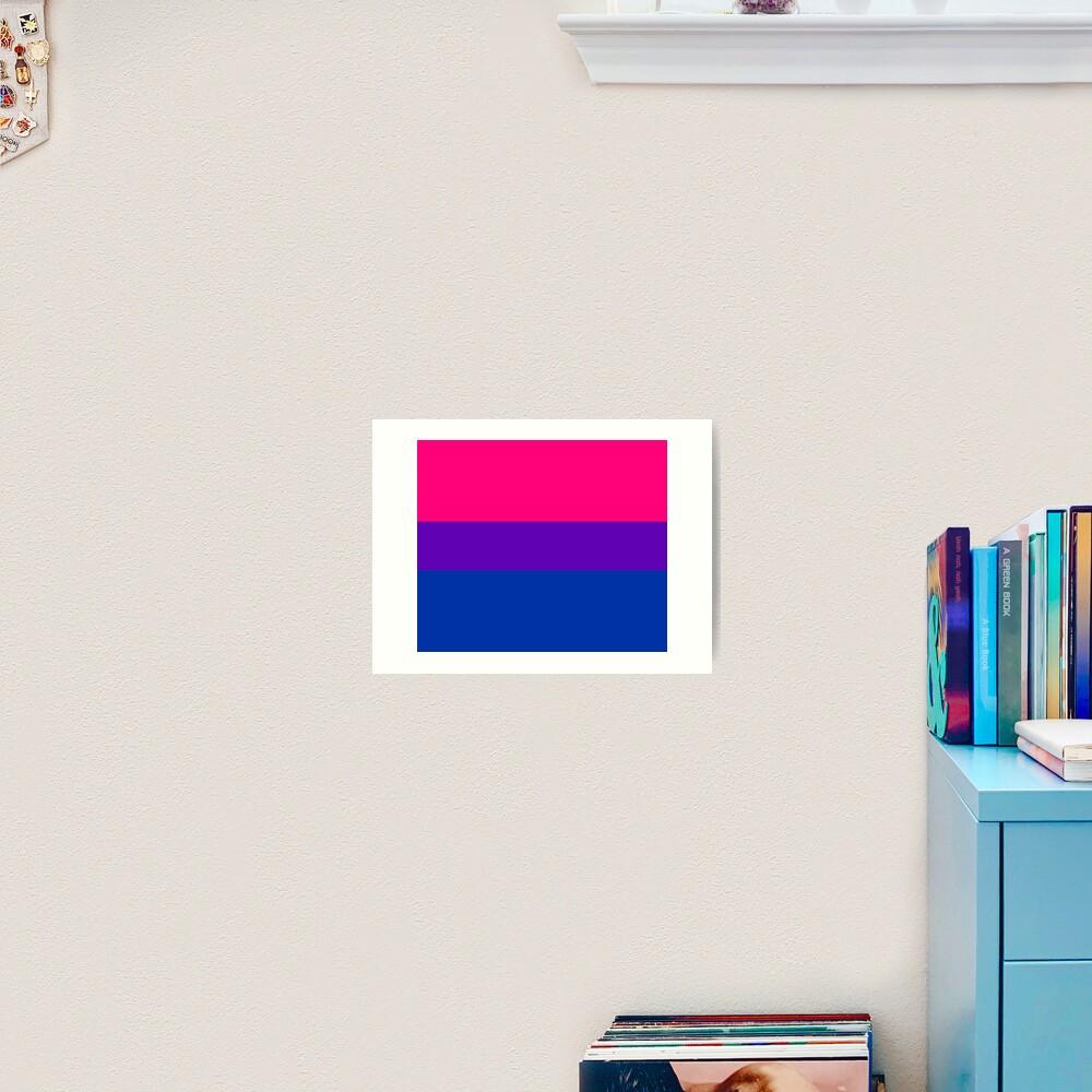 Solid Bisexual Pride Flag Art Print