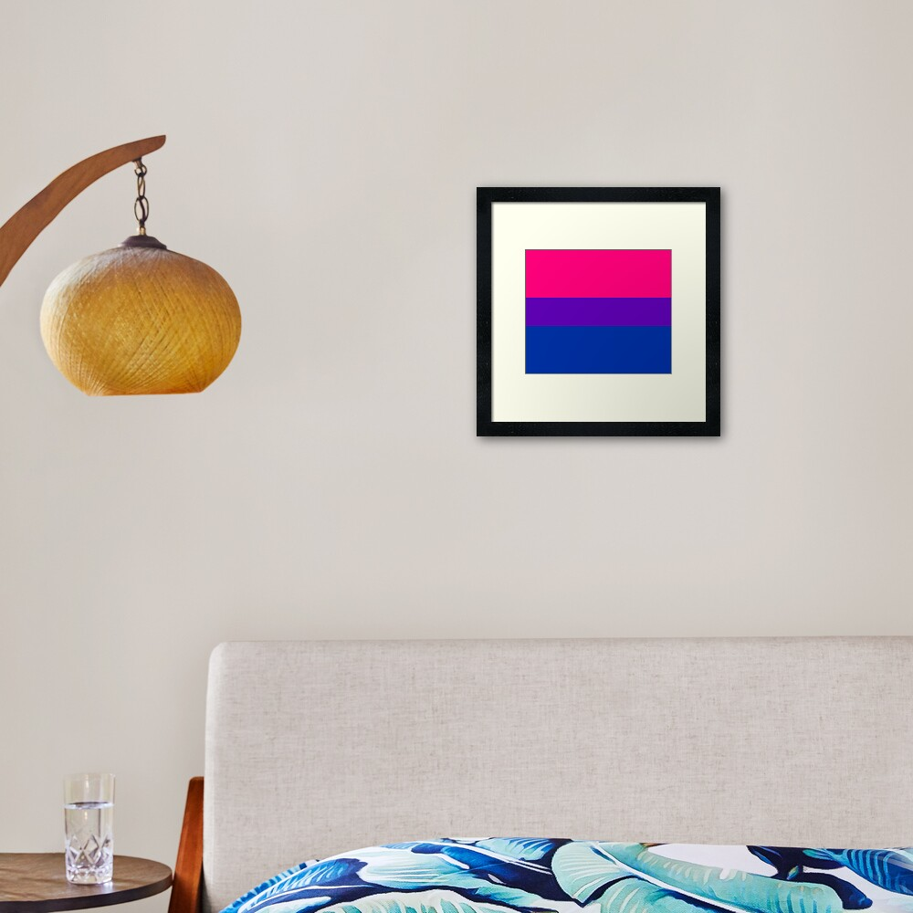 Solid Bisexual Pride Flag Framed Art Print