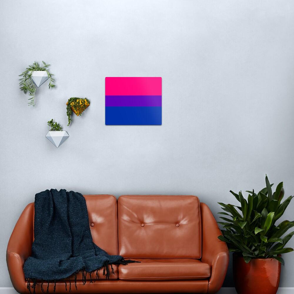 Solid Bisexual Pride Flag Metal Print