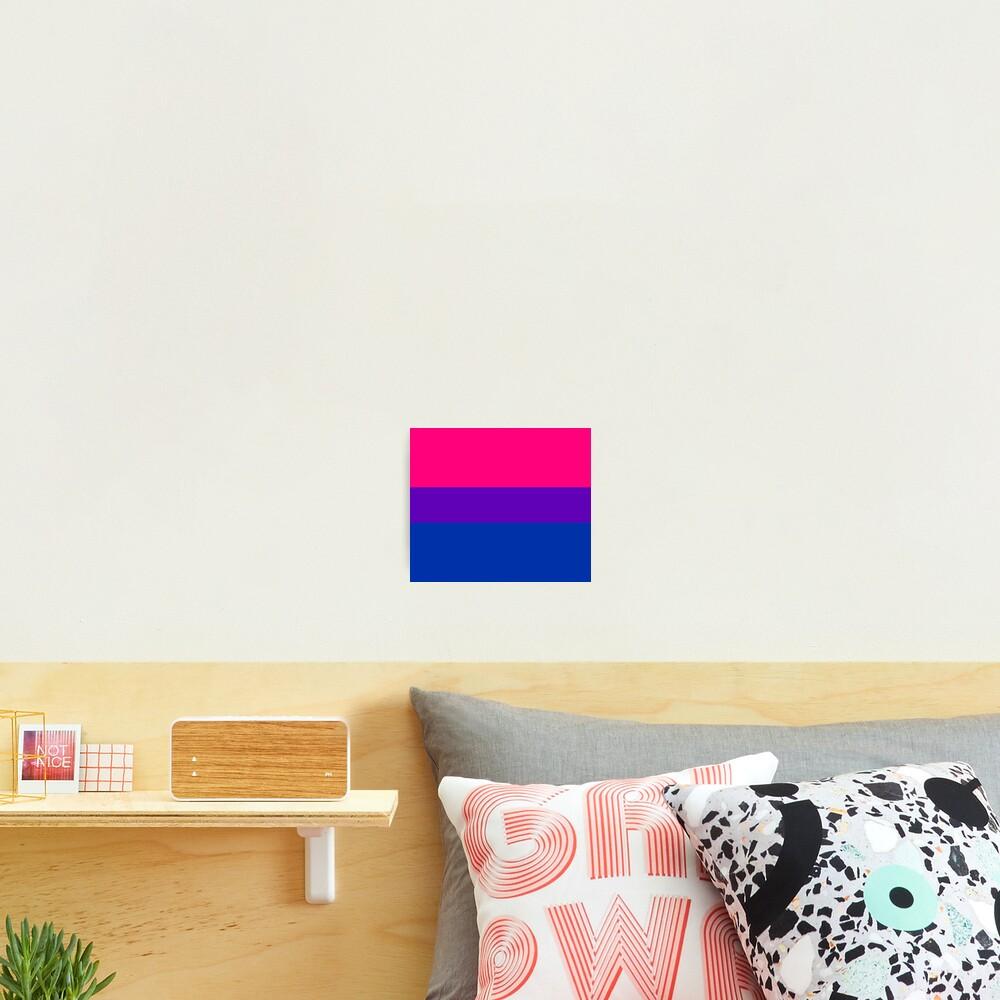 Solid Bisexual Pride Flag Photographic Print