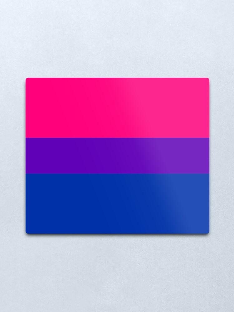 Alternate view of Solid Bisexual Pride Flag Metal Print