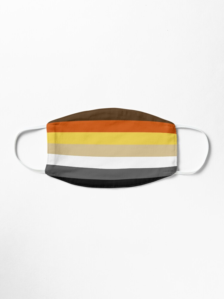 Alternate view of Solid Bear Pride Flag Mask