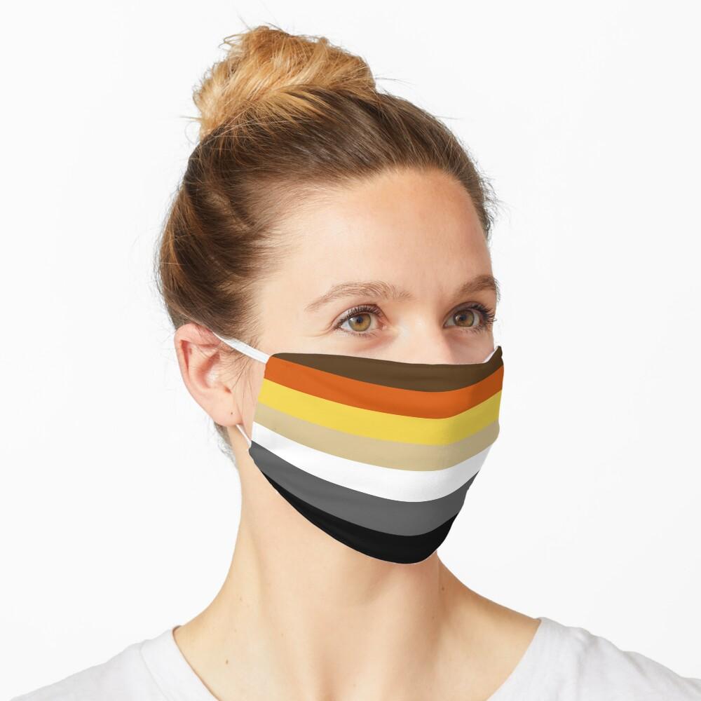 Solid Bear Pride Flag Mask
