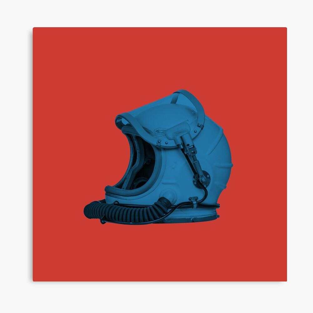 Space Helmet (Blue) Canvas Print