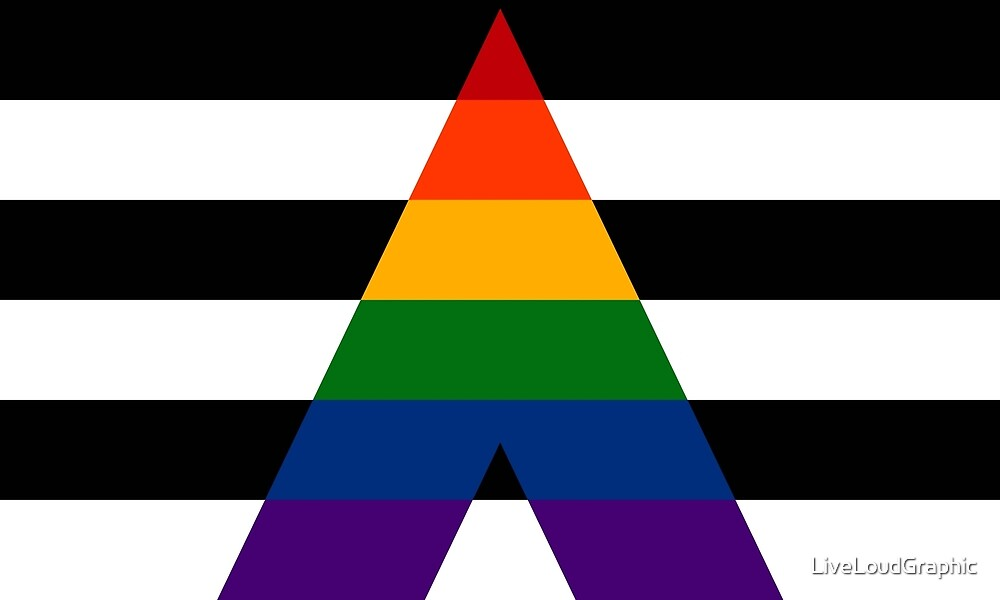 Solid LGBT Ally Pride Flag by LiveLoudGraphic